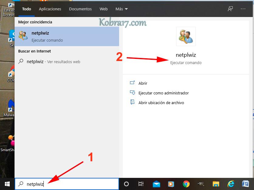 Quitar la Contraseña de Inicio de Windows 10 - 1
